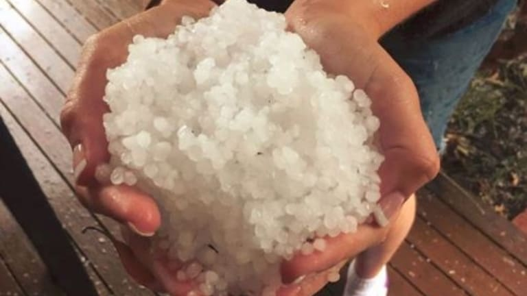 Melbourne's south eastern suburbs were battered by hail.