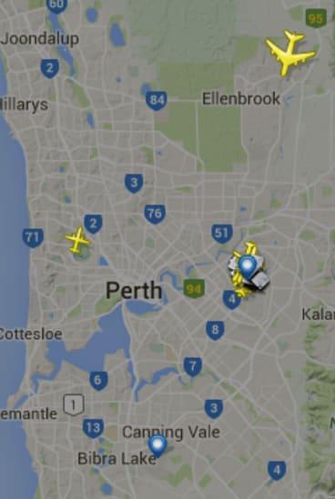 The Antonov An-225 Mriya on approach to Perth Airport.