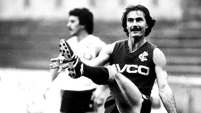 Former Carlton player Ken Hunter was the first person of many to be called by Caroline Wilson in her role as chief football writer.
