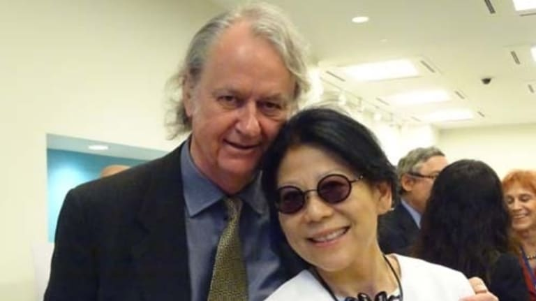 Sheri Yan and her husband Roger Uren, a former analyst at the Office of National Assessments.