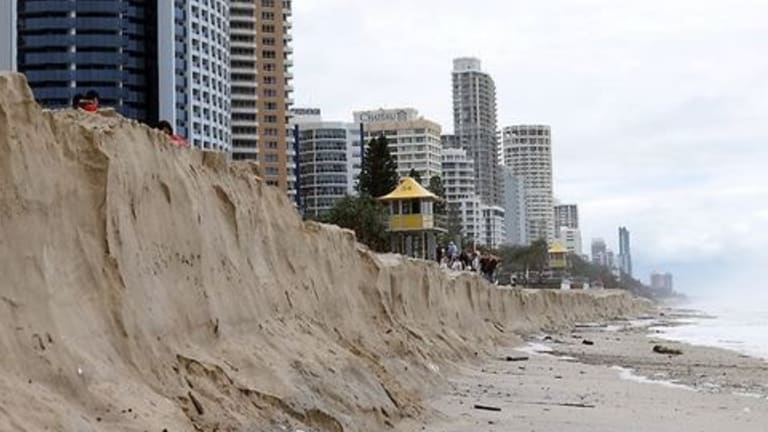 Gold Coast beaches often take a hit from big storms.