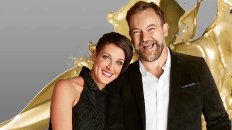 With his Gold FM co-host Jo Stanley.