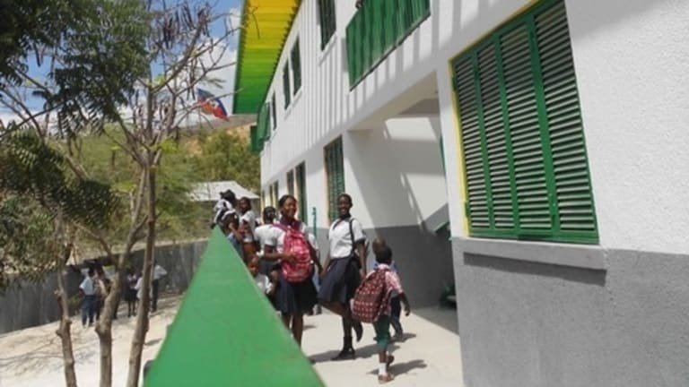 Eric Cesal worked on this school in Montrouis, Haiti.