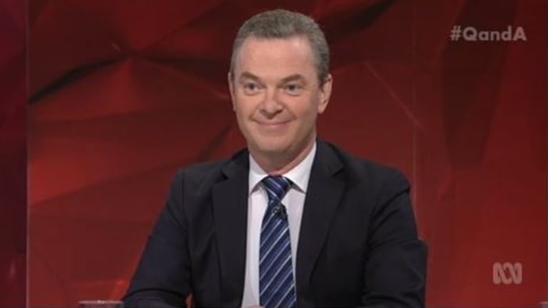 'Enough to stream five movies simultaneously': Christopher Pyne misses the point of the NBN on ABC's Q&A.