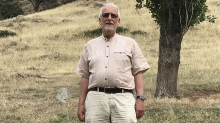 Carrillo Gantner at his family property in the hills of Victoria's High Country, which he escapes to most weekends.