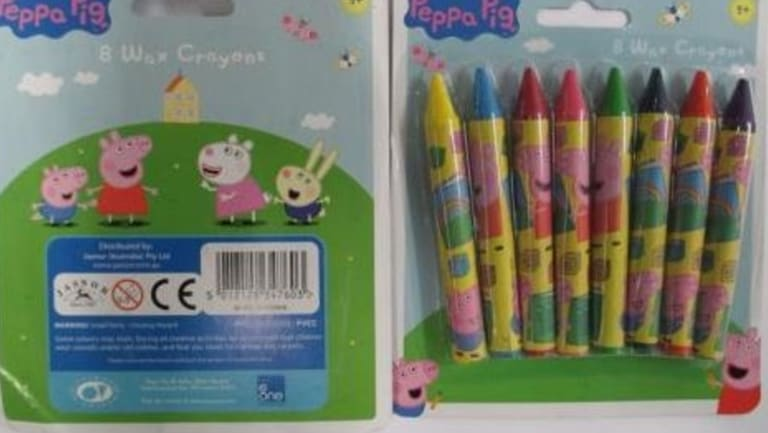 These Peppa Pig crayons were found to have asbestos in them.