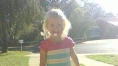 Toddler Nikki Francis-Coslovich.