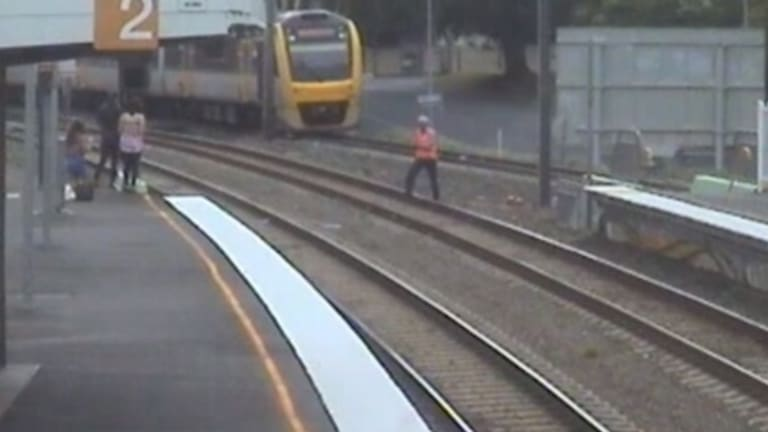A train driver managed to capture the bird, which had refused to budge from the tracks.