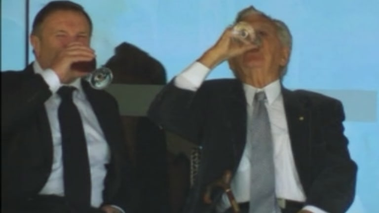 Always entertaining: Former prime minister Bob Hawke.
