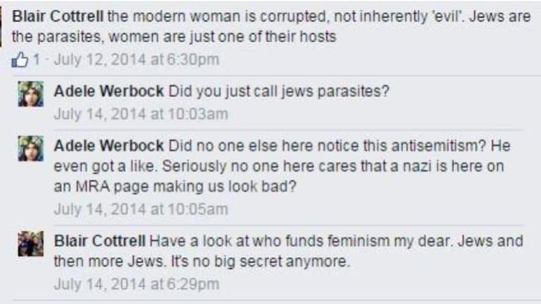 Blair Cottrell Facebook post