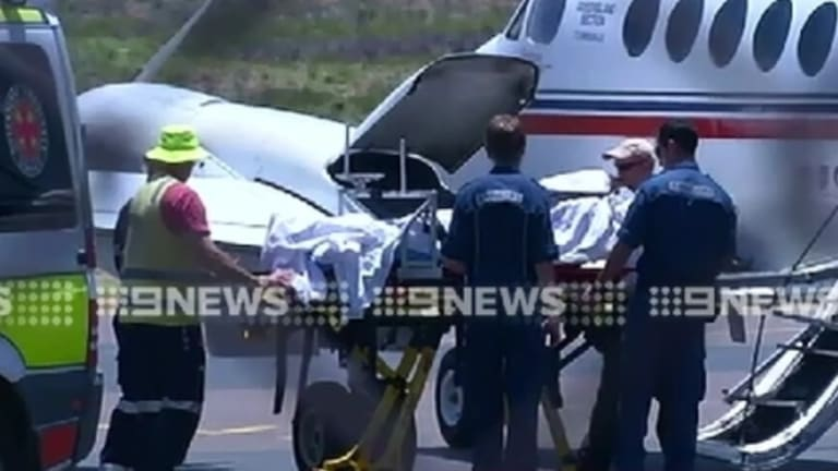 Melissa Abdoo is transferred from Mount Isa Hospital to Townsville for further treatment.