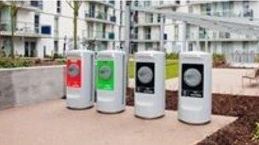 New 'waste inlets' replacing wheelie bins in Maroochydore.