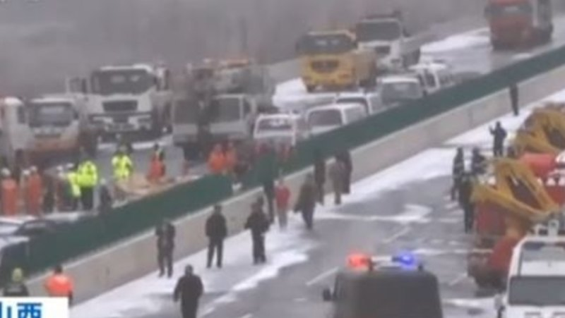 Huge pile-up on Chinese highway kills four, injures 40