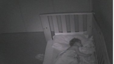Security breach: An image taken from a webcam in a Sydney home shows a baby sleeping. The image was leaked on the Russian website.