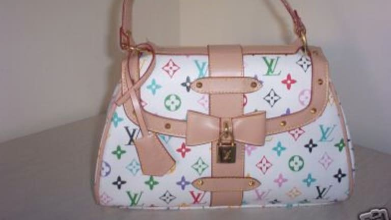 One of the most commonly copied prints: the Louis Vuitton monogram.