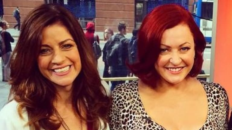 """New AWW editor-in-chief Kim Wilson and former Fairfax reporter Shelly Horton during an appearance as """"Kochie's Angels"""" on Sunrise."""