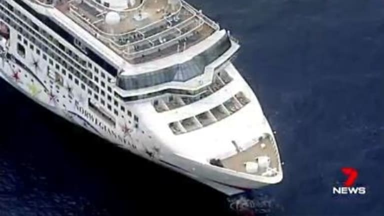 The stricken cruise ship, the Norwegian Star