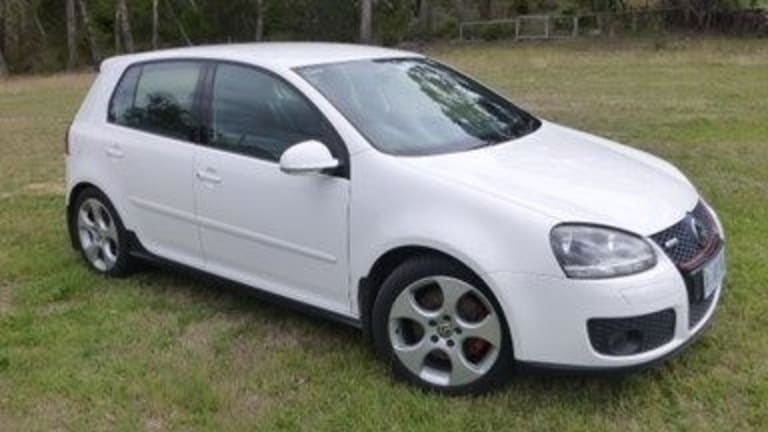 Police believe Mr Tran's white VW Golf, similar to this one, was stolen after he was shot.