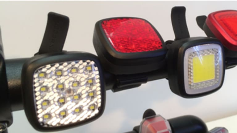 Pictured are the similar bike lights by a Chinese manufacturer.