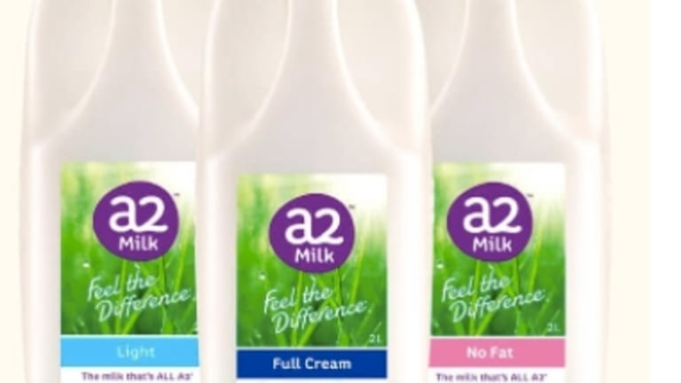A2 Milk Company's share price is up about 50 per cent over the past three months