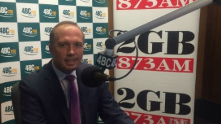 "Immigration Minster Peter Dutton told Ray Hadley on 2GB that some media outlets were ""hysterical"" over Operation Fortitude."