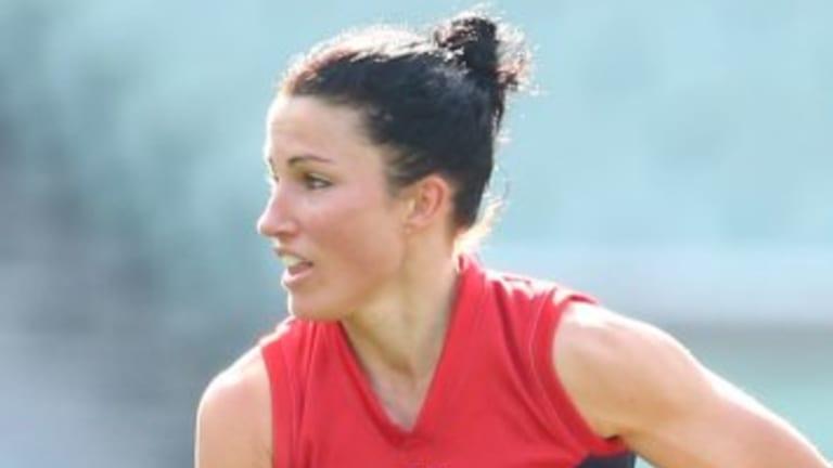 Footballing family: Melissa Hickey.