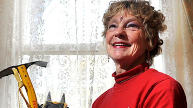 Jan Smith after returning from climbing Mount Everest.
