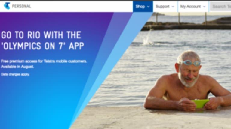 A screenshot of the Telstra ad.