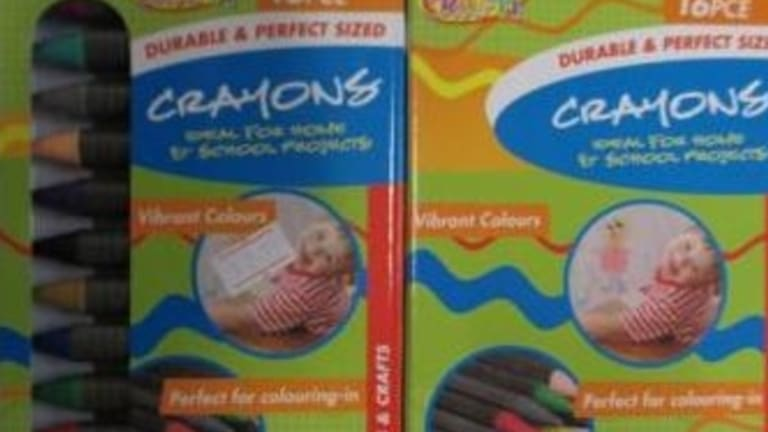 Six packets of crayons were found to contain asbestos.