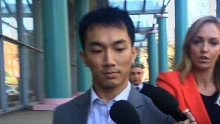 Physiotherapist Daniel Dung Huynh outside court on Monday.