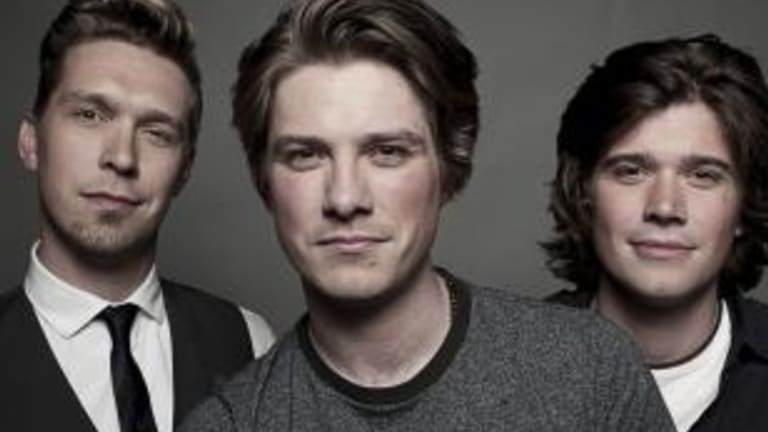 Boys to men:  Isaac, Taylor and Zac Hanson are headed for Canberra.