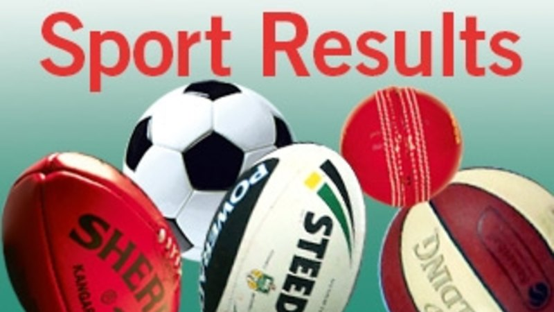 Sport results for Saturday, April 16