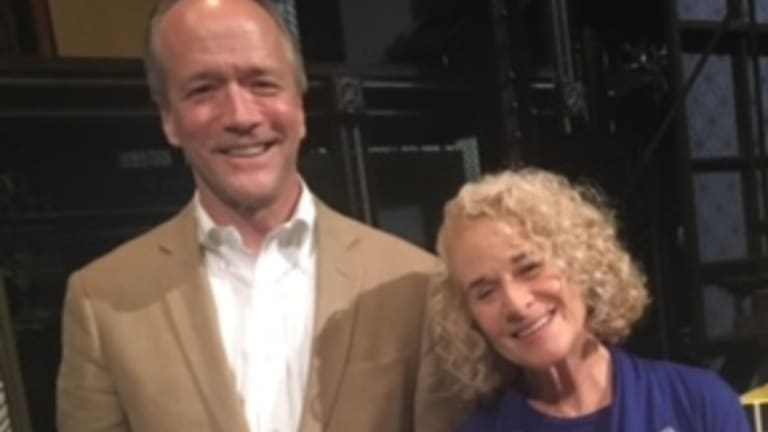 Writer Douglas McGrath with Carole King, whose life inspired McGrath's musical, 'Beautiful: The Carole King Musical'.