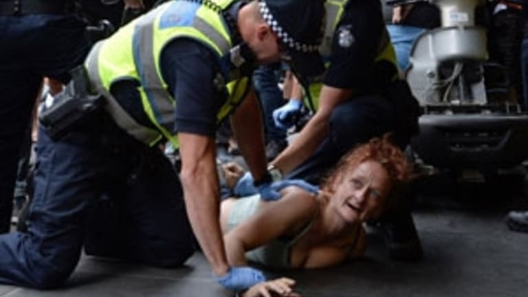 Police made five arrests on Wednesday.