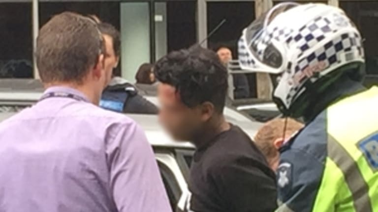 One of the suspects arrested in the CBD