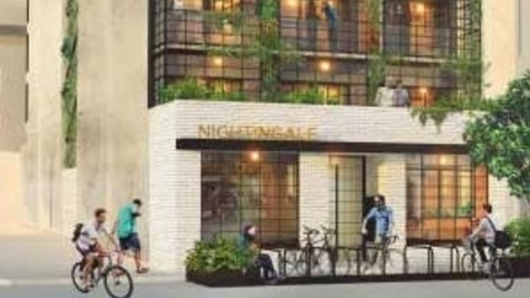 An artist's impression of Brunswick's Nightingale building, which was rejected by VCAT.