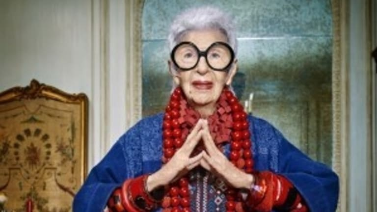 American style maven Iris Apfel was appointed ambassador of Australia fashion label Blue Illusion.