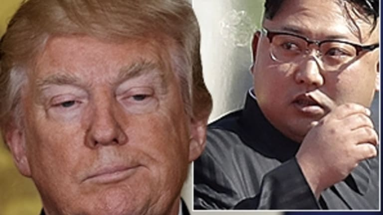 """During the US presidential election, while describing Kim Jong-Un as a maniac you don't play games with, Trump said you had to give him """"credit""""."""
