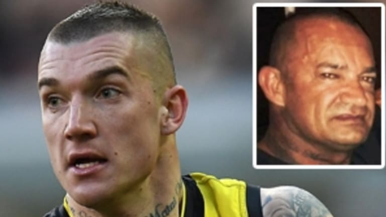 Dustin Martin and his father Shane.