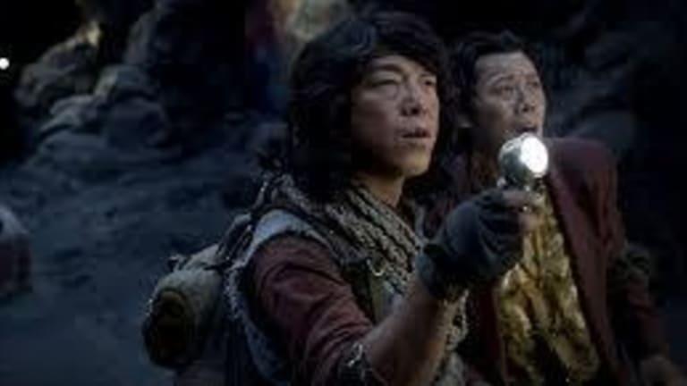 Enjoyably excessive: Huang Bo as buffoonish hero Wang Kai Xuan in <i>Mojin: The Lost Legend</i>.