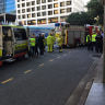 Man hit by truck crossing Adelaide Street