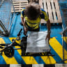 This wheel's on fire - the small measures keeping Sydney's CBD in deliveries