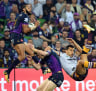 Melbourne Storm winger Josh Addo-Carr in tears pregame before two-try performance