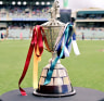 Wet weather hasn't kept crowds away from the WAFL grand final at Subiaco Oval.