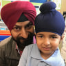 Sidhak and his dad win battle for Sikh boys to wear turban to Christian school