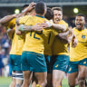 Wallabies overcome early struggles to beat Argentina 45-20 in Canberra