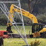 The pipeline that supplies the nation's fuel supplies from the Marsden Point refinery was breached on a farm near Ruakaka, New Zealand.