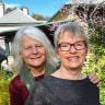 Greens senator Janet Rice with her wife Penny Whetton in their Melbourne home.