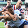 Sydney Roosters survive Gold Coast Titans scare to book home final against Brisbane Broncos