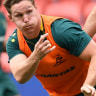 """Past and present captains: Wallabies skipper Michael Hooper says predecessor Stephen Moore has been """"such a great person for this country, this jersey"""" ahead of Moore's final Test on home soil."""